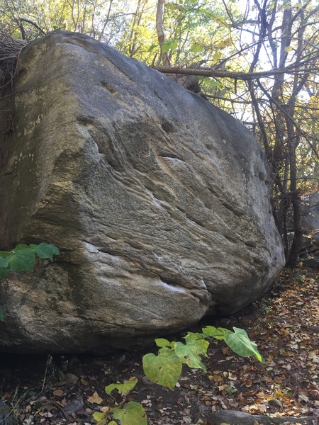 Slave Driver Boulder as first seen on the approach trail.