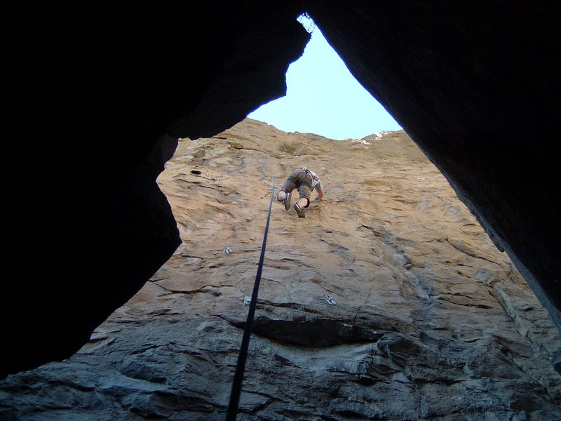 RZ on, Out Of The Pit. 5.11a