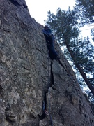 Rock Climbing Photo: The first wide crack section.