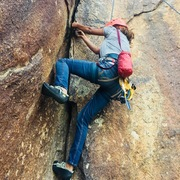 Rock Climbing Photo: Crack climbing at .... E Lone cactus dr, Scottsdal...