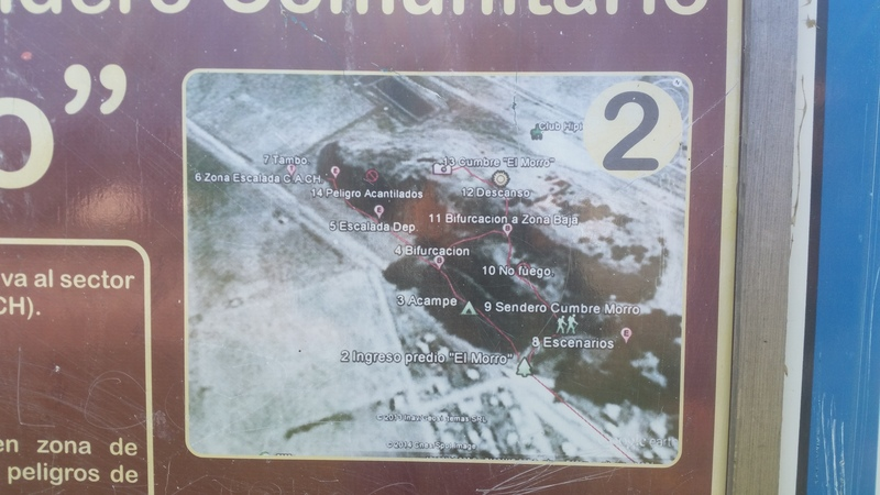 Map of El Morro. It is on the entrance sign.