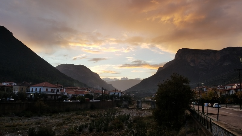 The end of another stellar day in Leonidio. November 2017.