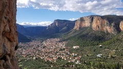 Rock Climbing Photo: View of Leonidio from King of Thrones. November 20...