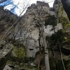 """On the approach to the upper-most sector of the crag, home to trad test pieces like """"The Doors"""""""
