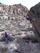Rock Climbing Photo: Mike Arechiga on, Get Carter. V2