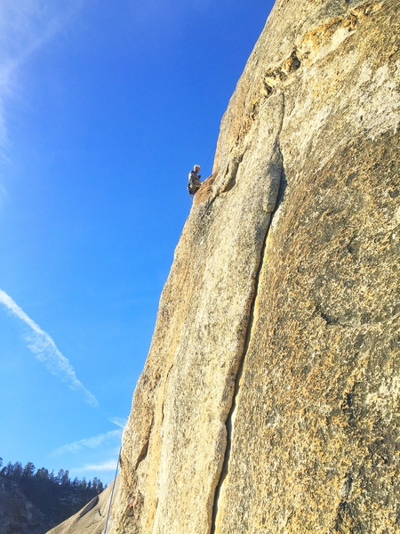 Lenny leading Lost Arrow Spire Tip