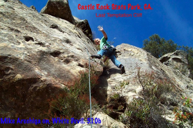 Mike Arechiga on, White Devil/Go I know Not To Wither. 5.10b