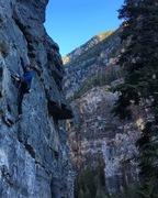 Rock Climbing Photo: Erin W. on Fire Woman 11b.