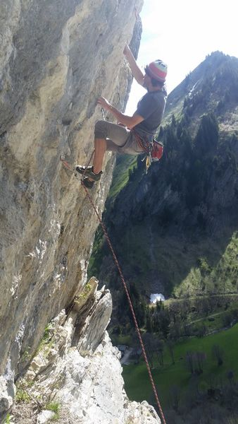 Incredible overhangs at Foron, Mt. Blanc Valley, France
