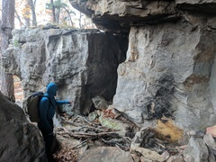 Inside the Bivy Cave at Stack Rock