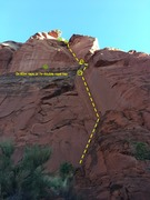 Rock Climbing Photo: Full route view