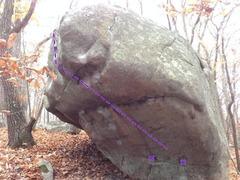 Rock Climbing Photo: Steep side.