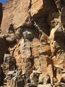 Climbers on Cajones Con Lodo.