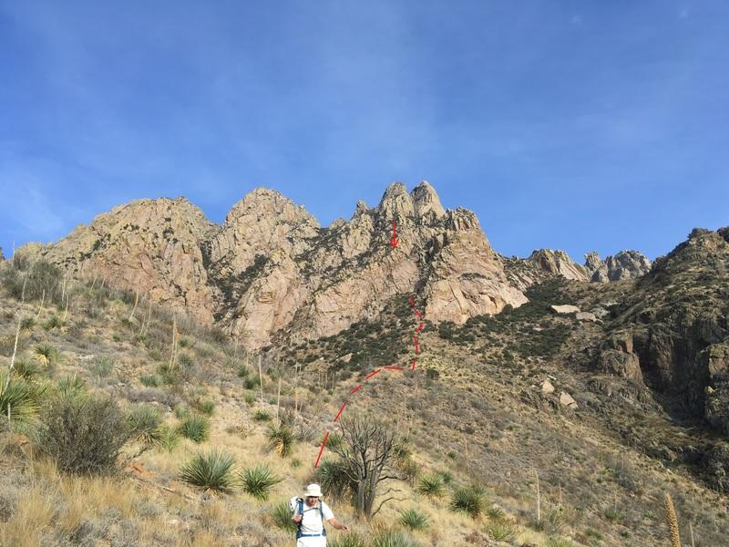 Location of WWW. Marta Reece on descent.