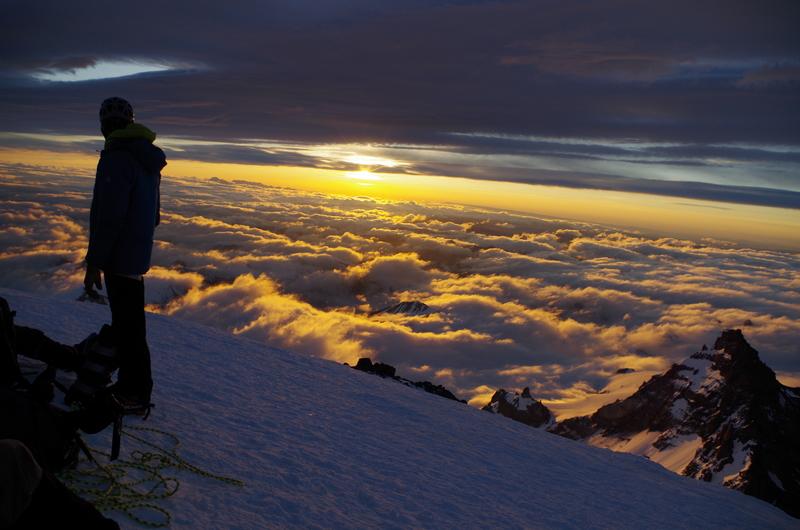 Sunrise at 13,000 feet.