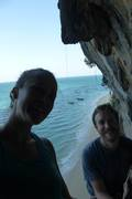 Rock Climbing Photo: Top of 2nd pitch in Lao Liang beach, Thailand