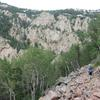 The approach in the Sandia Mountains in New Mexico