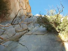 Granite Jungle P1. The anchor is just to the left of the pointed block