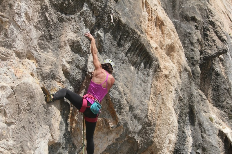 Lower section. Super fun pockets and tufa climbing