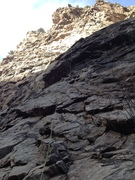 Rock Climbing Photo: Middle of 2nd pitch linking first two.