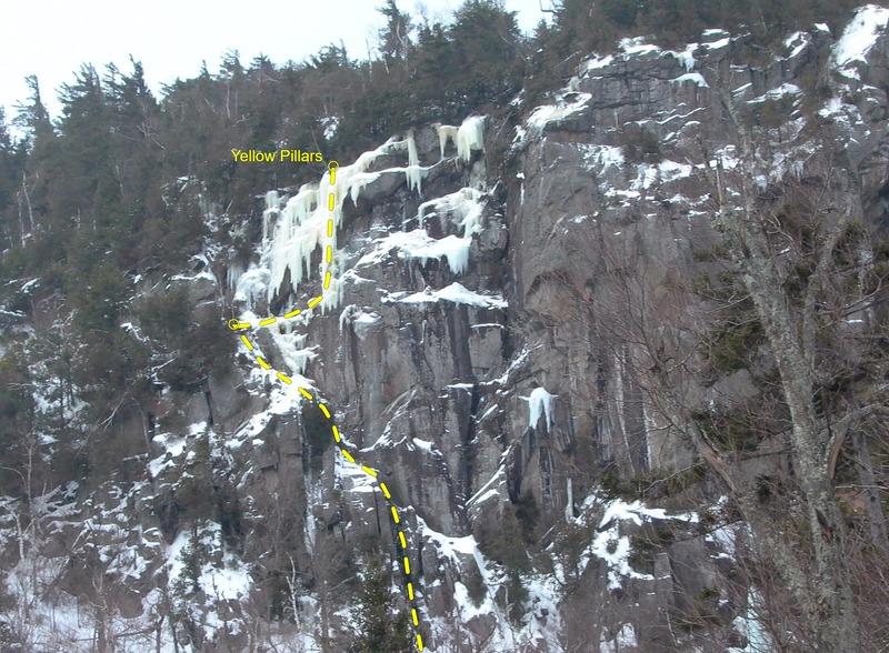 Left side of High Falls Crag.