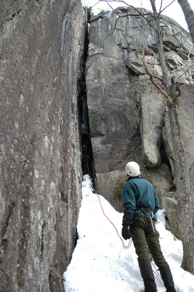 Old Route, Hurricane Cliff, in the winter.