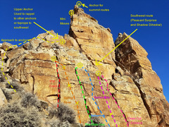 The lower southeast buttress