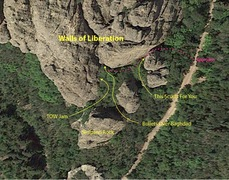 Rock Climbing Photo: Aerial view of Walls of Liberation