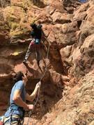 Rock Climbing Photo: At bolt two.