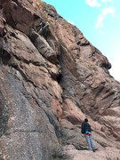 Rock Climbing Photo: View of the route - at the anchors.