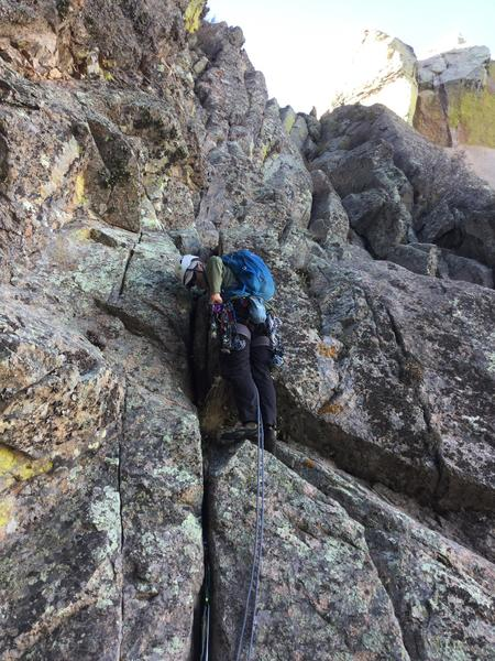 Myself leading P7, with the Organ ridge just above.