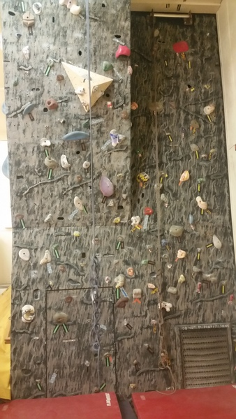 McMurdo climbing wall.