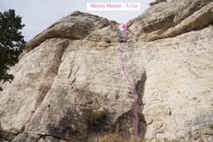 Rock Climbing Photo: Merely Mortal (October 2016)