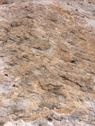 Rock Climbing Photo: not the best picture, sorry.  rope is hanging on t...