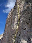 Rock Climbing Photo: climber on Hidden Gem