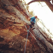 Rock Climbing Photo: Early morning start provides atmospheric lighting ...