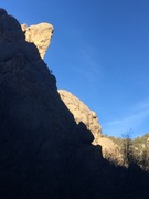 """Rock Climbing Photo: Climbers at the top of pitch 2 on """"Changing t..."""