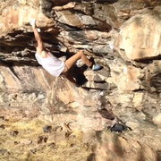 Rock Climbing Photo: Ian on the FA.