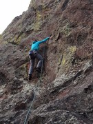 Rock Climbing Photo: Lisa on the way to sending!