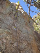 Rock Climbing Photo: I'd Turn Back If I Were You w bolts marked.
