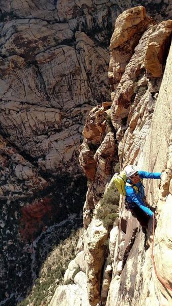 Me climbing up!