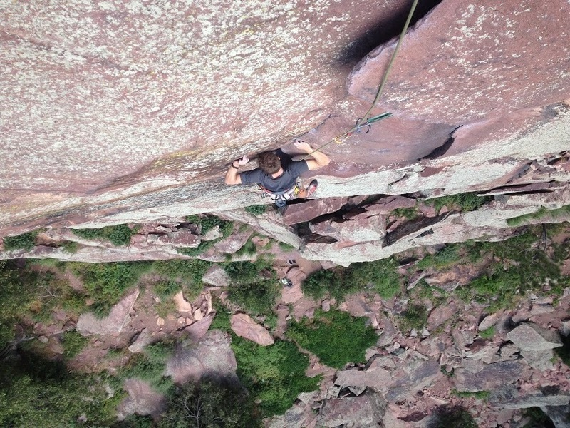 Samuel Toillion at the crux of pitch one.