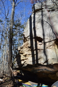 Rock Climbing Photo: A bad photo of a beautiful boulder. Not shown is t...