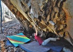 Rock Climbing Photo: Parlier on the FA of MKUltra