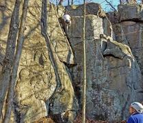 Rock Climbing Photo: Yuon Tai finishing up Woolworths Corner in sector ...