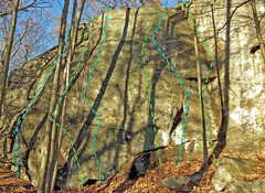 Rock Climbing Photo: Dime Store - left side: Z. Right Gully (of sector...