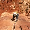 Will F. cruising the thin hands section in his sweet, desert modified helmet (+5 sun protection).