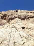 Near the top.