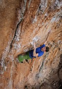 Rock Climbing Photo: Jason Halladay in the midst of the crux on the low...