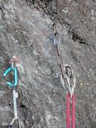 Rock Climbing Photo: New anchor installed.